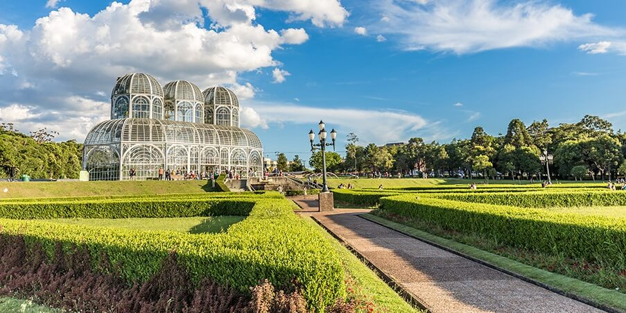Jardim Botânico, Curitiba. Estado do Paraná, Brasil.